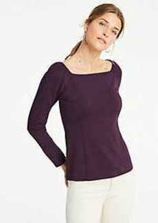 Ann Taylor Square Neck Ponte Top