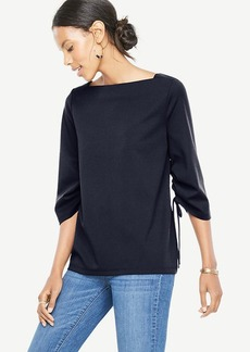 Square Neck Ruched Sleeve Top