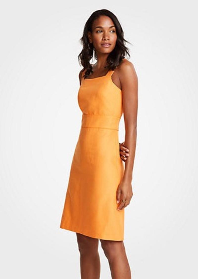 5b736df74eb Ann Taylor Square Neck Sheath Dress