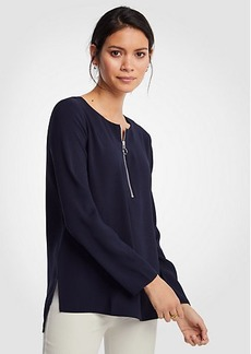 Ann Taylor Step Hem Zip Tunic