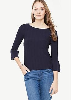 Stitch Ruffle Cuff Sweater