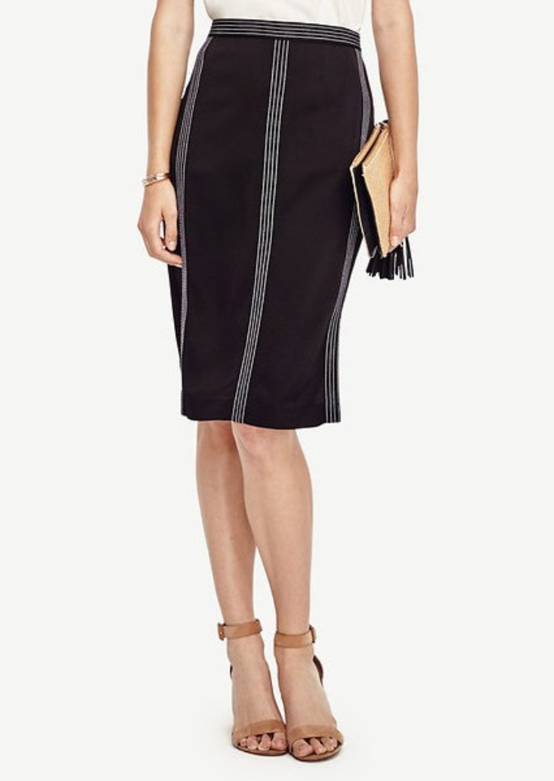 Ann Taylor Stitch Stripe Skirt