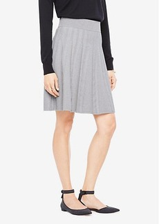 Ann Taylor Stitched Flare Sweater Skirt