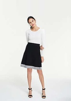 Ann Taylor Stitched Hem Sweater Skirt