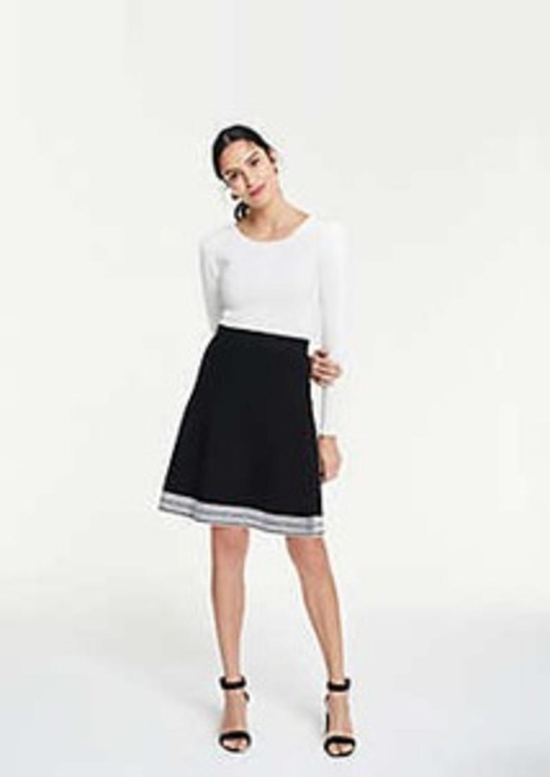 Ann Taylor Stitched Hem Sweater Skirt