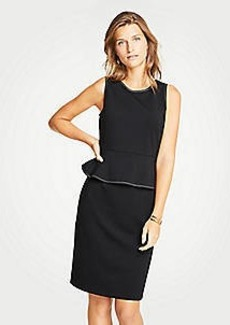 Ann Taylor Stitched Peplum Sheath Dress
