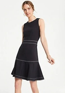 Ann Taylor Stitched Ponte Flare Dress