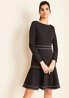 Ann Taylor Stitched Ponte Flare Dress