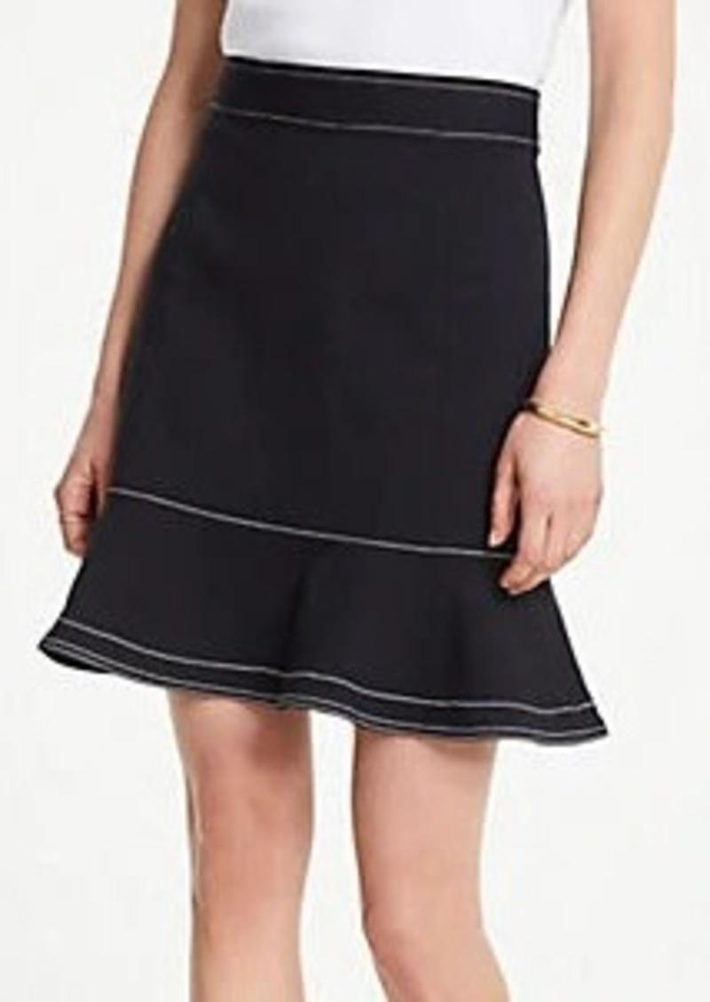 Ann Taylor Stitched Ponte Flounce Skirt