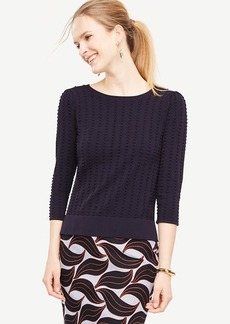 Ann Taylor Stitched Puff Sleeve Sweater