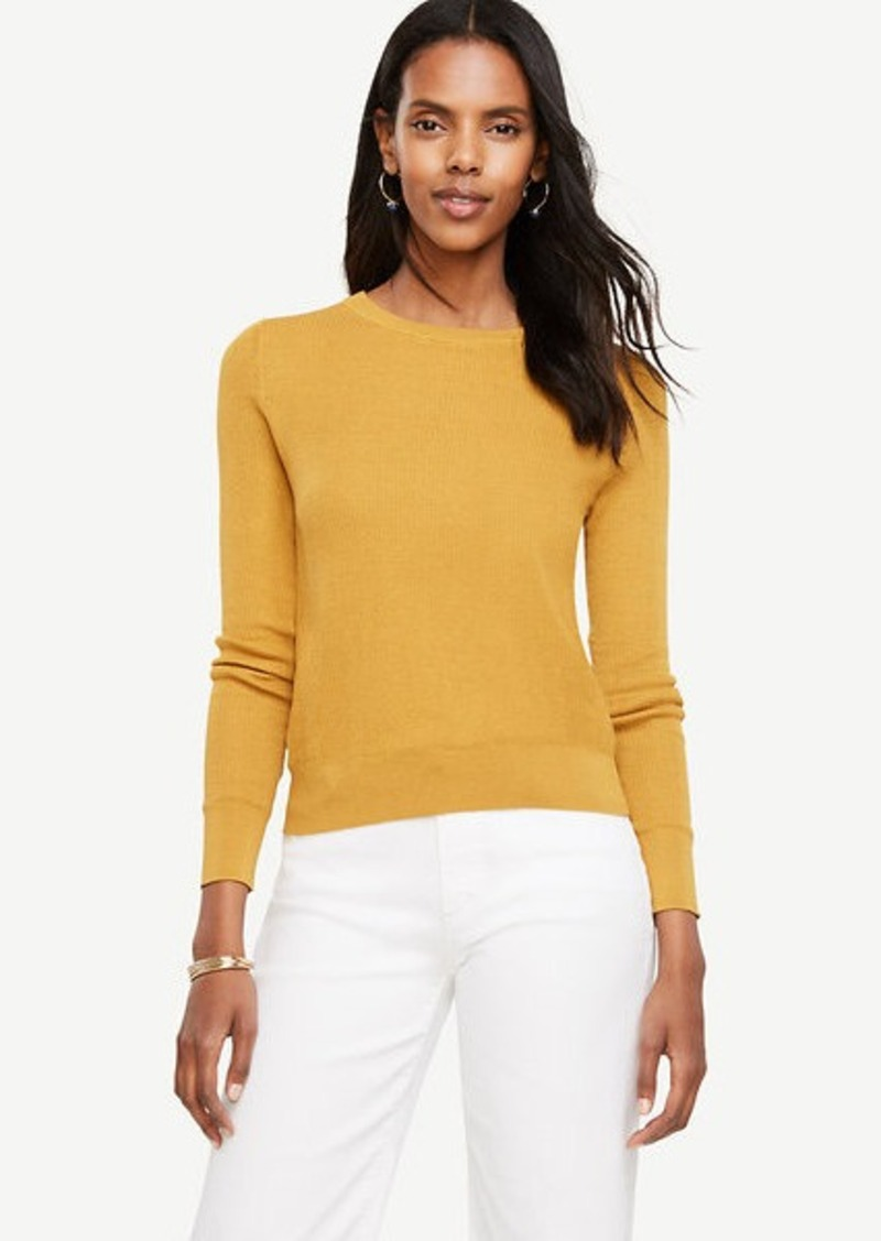 Ann Taylor Stitched Silk Cotton Sweater | Sweaters - Shop It To Me