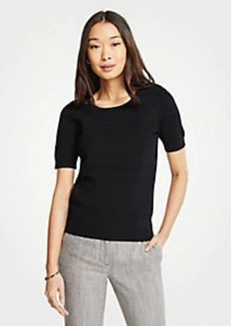 Ann Taylor Stitched Sweater Tee