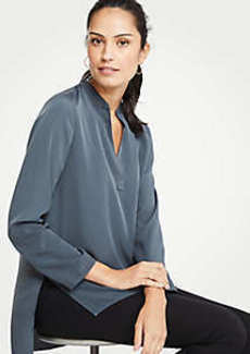 Ann Taylor Stitched V-Neck Tunic