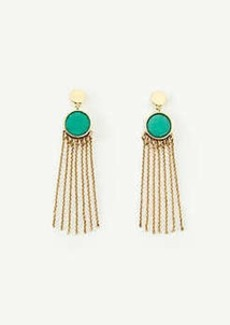Ann Taylor Stone and Tassel Earrings