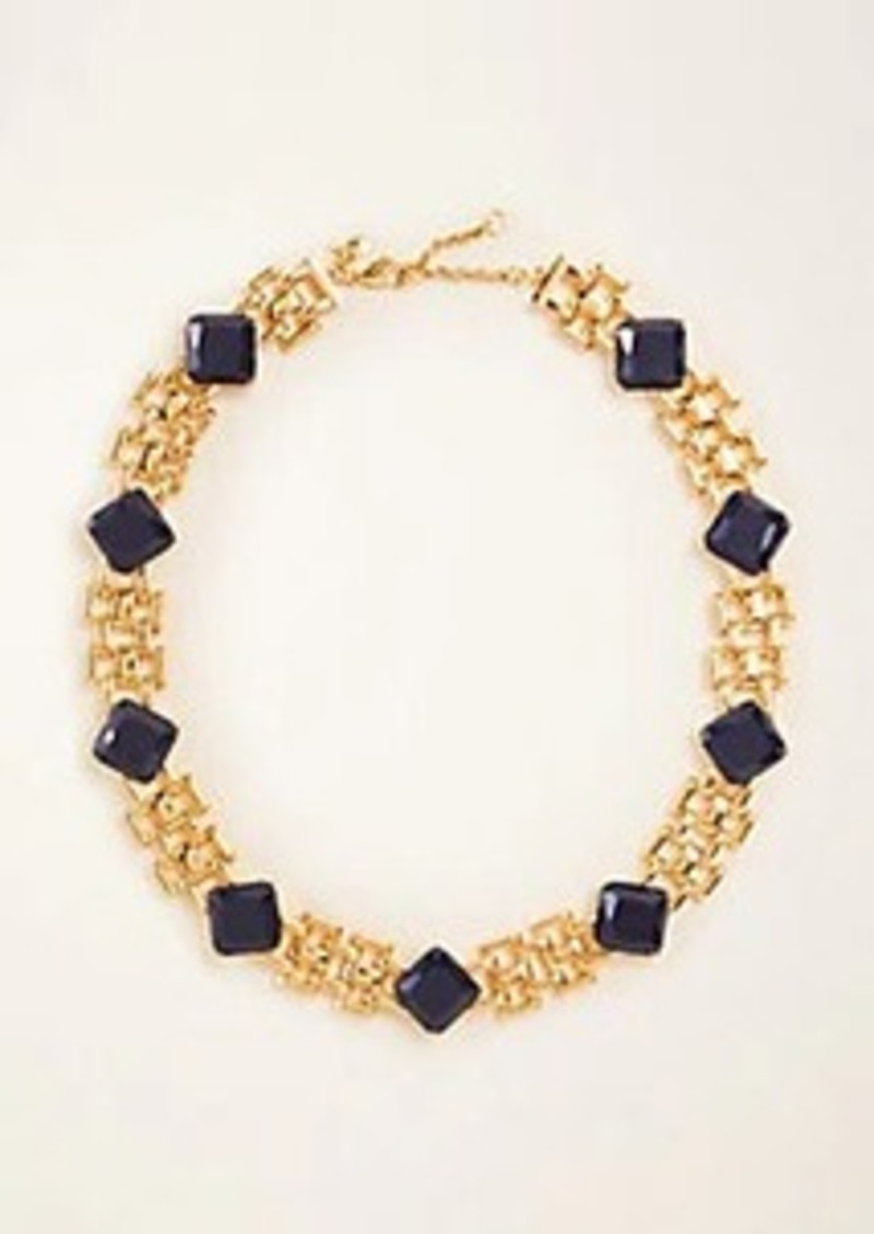 Ann Taylor Stone Watch Band Statement Necklace