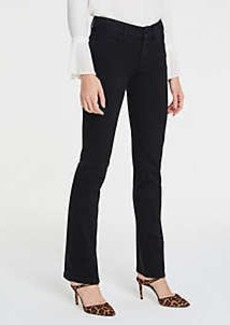 Ann Taylor Straight Leg Jeans in Jet Black Wash