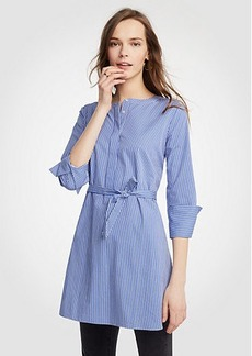 Ann Taylor Stripe Belted Tunic Shirt