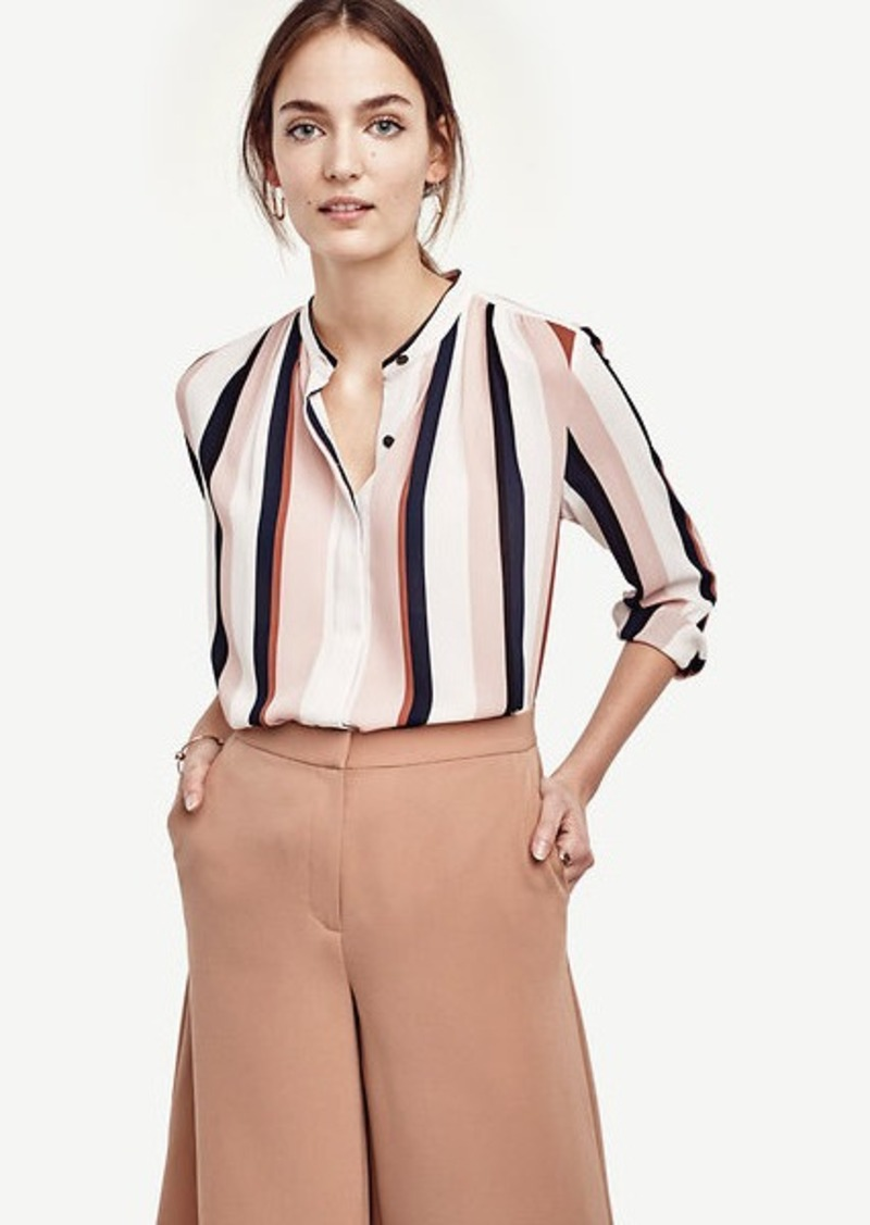 Ann Taylor Stripe Button Down Blouse