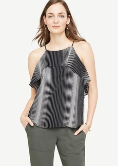 Stripe Flouncy Halter Top