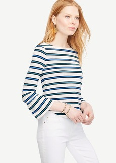 Stripe Fluted Sleeve Top