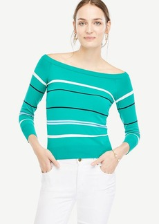 Stripe Off The Shoulder Sweater