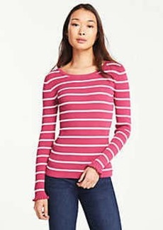 Ann Taylor Stripe Perfect Pullover