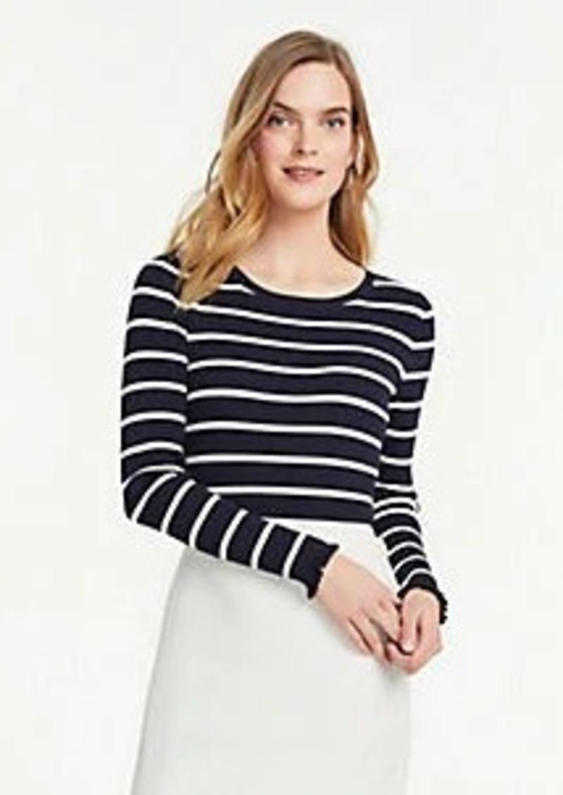 Ann Taylor Stripe Perfect Pullover
