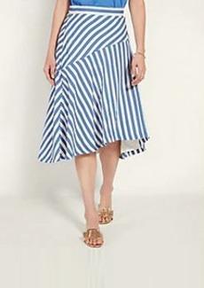 Ann Taylor Stripe Seamed Full Skirt