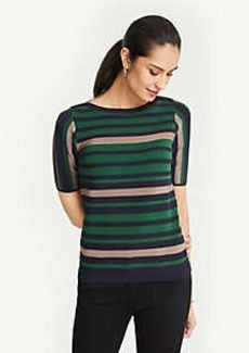 Ann Taylor Stripe Short Sleeve Sweater