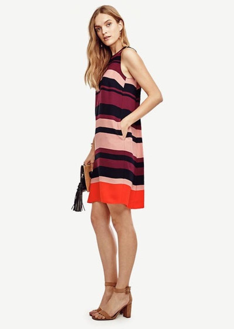 Ann Taylor Stripe Trapeze Dress