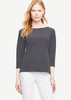 Striped Boatneck Top