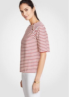 Ann Taylor Striped Button Top