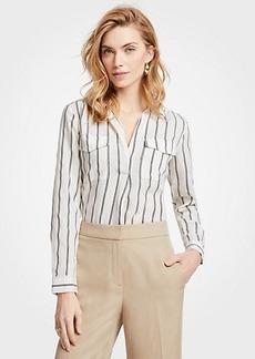 Ann Taylor Striped Camp Shirt