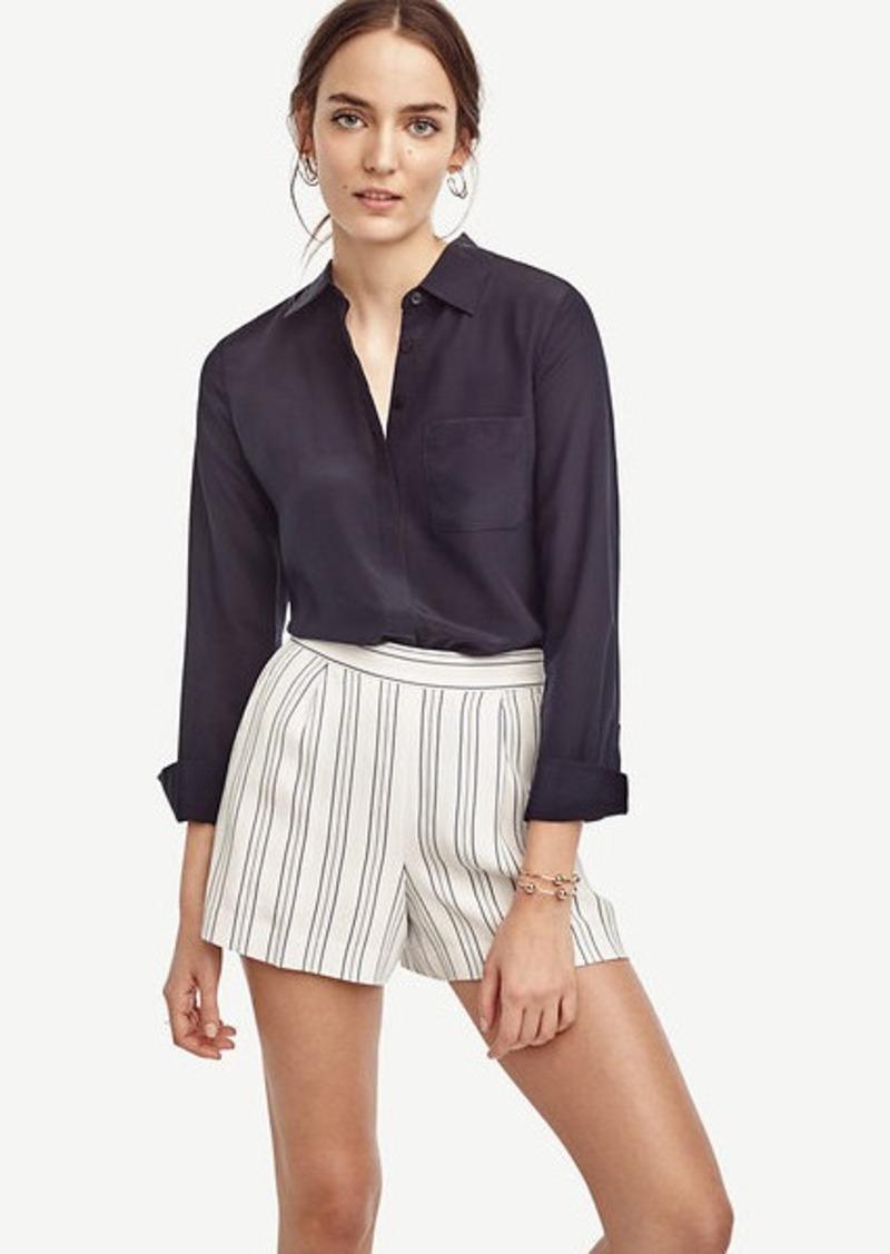 Ann Taylor Striped Drapey Shorts
