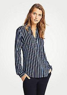 Ann Taylor Striped Essential Button Down Blouse