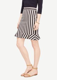 Ann Taylor Striped Flounce Skirt
