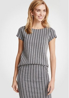 Ann Taylor Striped Jacquard Top
