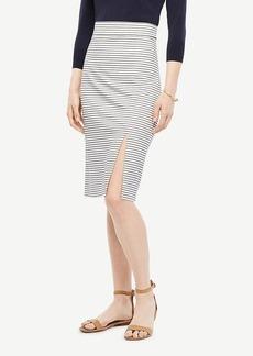 Ann Taylor Striped Knit Slit Skirt