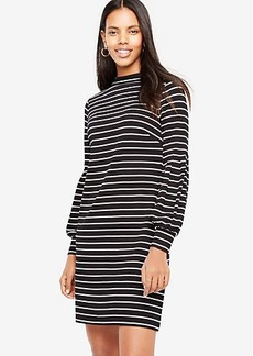 Ann Taylor Striped Lantern Sleeve Shift Dress