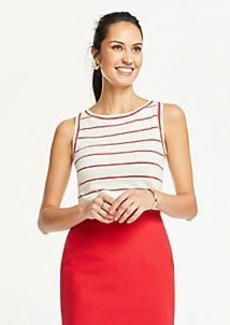 Ann Taylor Striped Linen Blend Sweater Shell