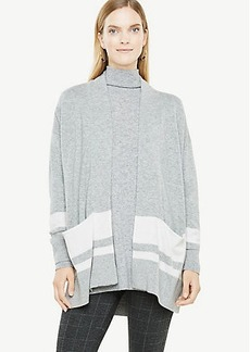 Ann Taylor Striped Open Cardigan