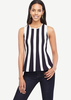 Ann Taylor Striped Peplum Tank