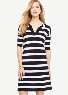 Striped Polo Sweater Dress