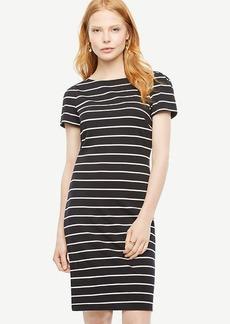 Striped Ponte Sheath Dress