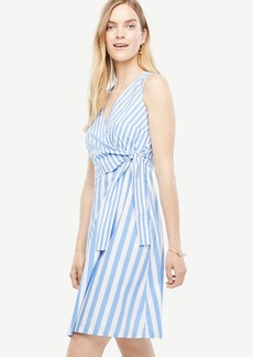 Striped Poplin Flare Dress