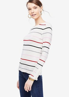 Striped Ruffle Cuff Top