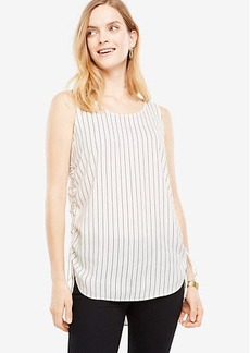 Striped Sleeveless Drawstring Top