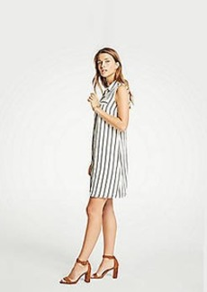 Ann Taylor Striped Sleeveless Shirtdress