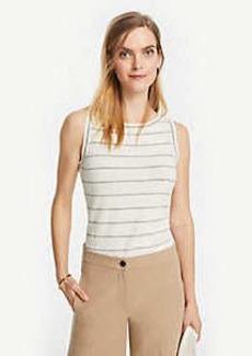 Ann Taylor Striped Linen Blend Sweater Shell