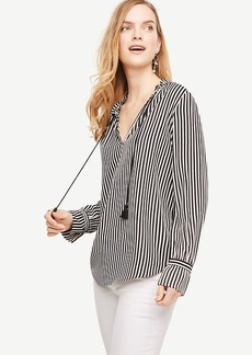 Striped Tassel Blouse